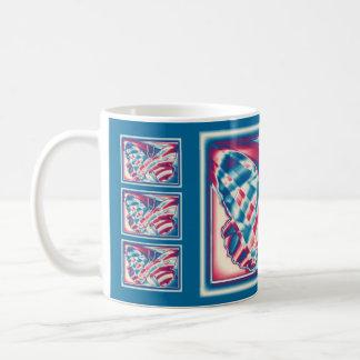 Patriotic Butterflies Coffee Mug