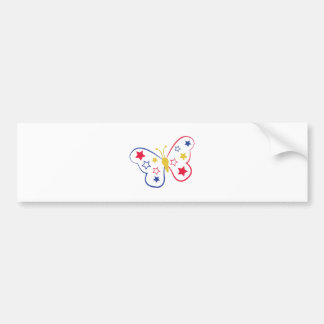 Patriotic Butterfly Bumper Sticker