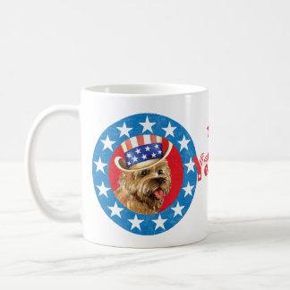 Patriotic Cairn Terrier Coffee Mug