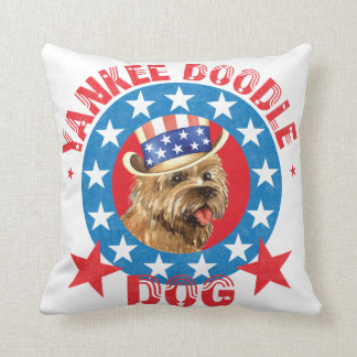 Patriotic Cairn Terrier Cushion