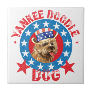 Patriotic Cairn Terrier Tile