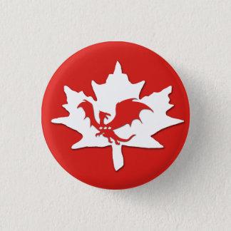 Patriotic Canadian Dragon Red 3 Cm Round Badge