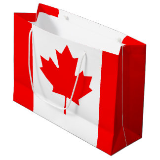 Patriotic Canadian Flag Large Gift Bag