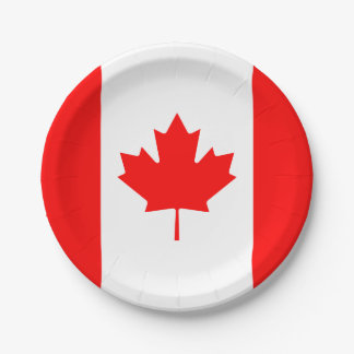 Patriotic Canadian Flag Paper Plate