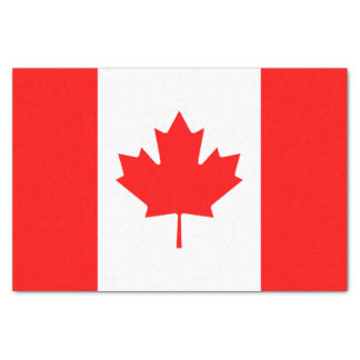 Patriotic Canadian Flag Tissue Paper