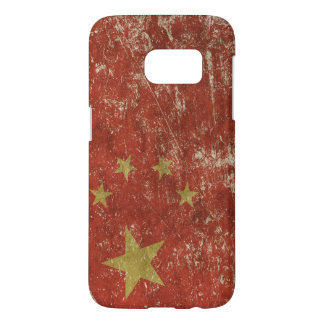 Patriotic case with flag of China