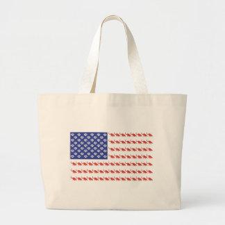 Patriotic Cat/USA Large Tote Bag