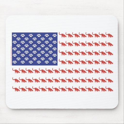 Patriotic Cat/USA Mouse Pad
