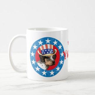Patriotic Catahoula Basic White Mug