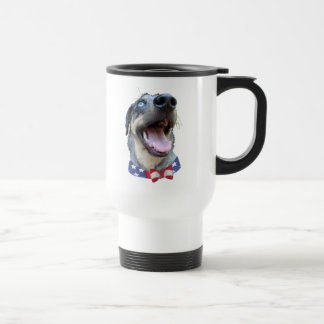 Patriotic Catahoula Leopard Dog Stainless Steel Travel Mug