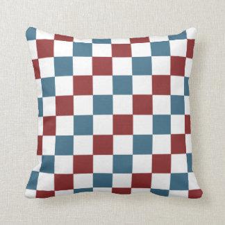 Patriotic Checker Pattern Cushion