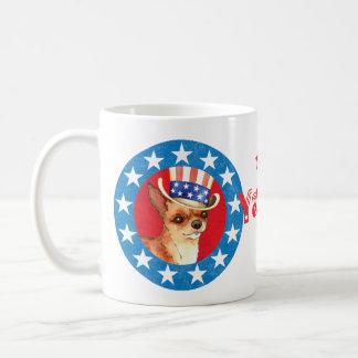 Patriotic Chihuahua Basic White Mug