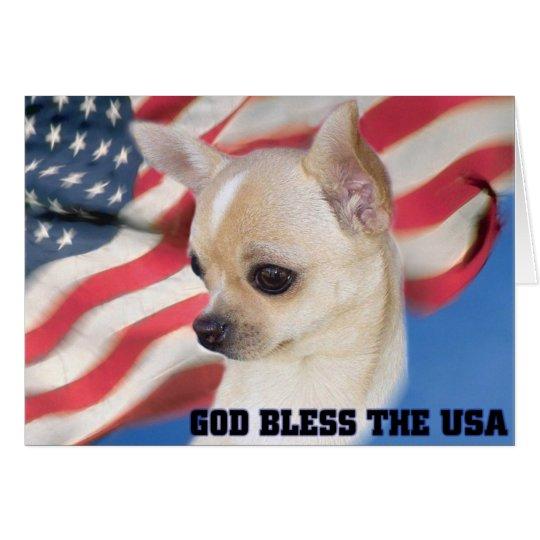 Patriotic Chihuahua card