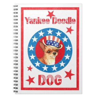Patriotic Chihuahua Note Book