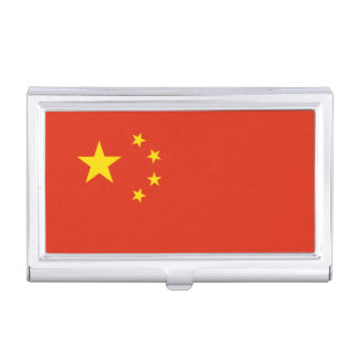 Patriotic Chinese Flag Business Card Holder