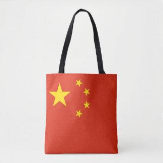 Patriotic Chinese Flag Tote Bag