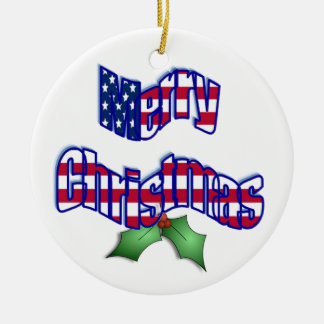 Patriotic Christmas Ornament