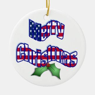 Patriotic Christmas Ornament