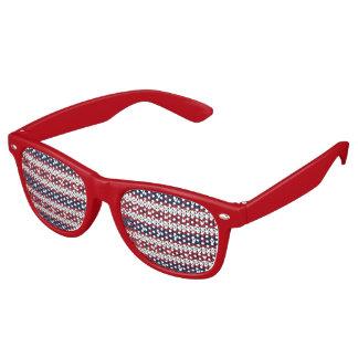 Patriotic Christmas Sweater Pattern Retro Sunglasses