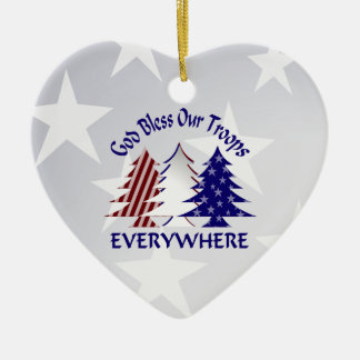 Patriotic Christmas Trees /  Military Prayer Christmas Ornament
