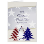 Patriotic Christmas Trees, Military Thank You