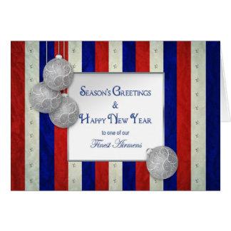 Patriotic Christmas - USA -America's Finest Airmen Greeting Card