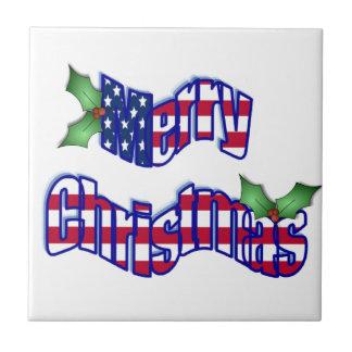 Patriotic ChristmasTile Tiles