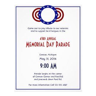 Patriotic Circle of Stars Memorial Day 21.5 Cm X 28 Cm Flyer