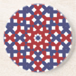 Patriotic Coasters Red White and Blue