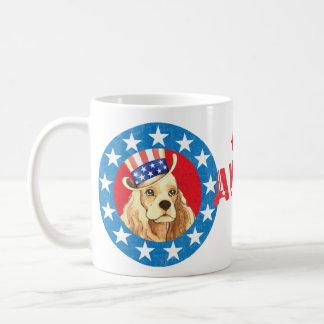 Patriotic Cocker Basic White Mug