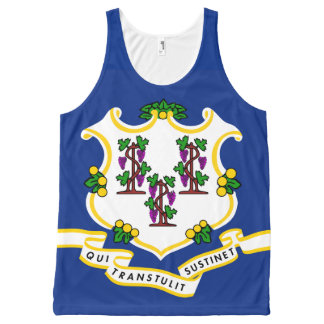 Patriotic Connecticut State Flag All-Over Print Tank Top
