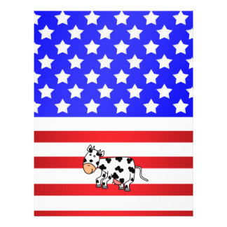 Patriotic cow personalized flyer