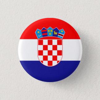 Patriotic Croatian Flag 3 Cm Round Badge