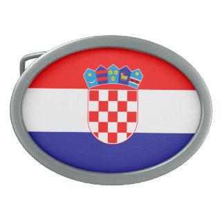 Patriotic Croatian Flag Belt Buckles