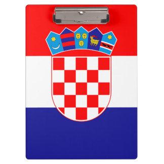 Patriotic Croatian Flag Clipboard