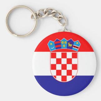 Patriotic Croatian Flag Key Ring