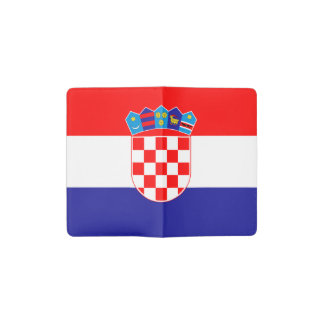 Patriotic Croatian Flag Pocket Moleskine Notebook