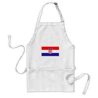 Patriotic Croatian Flag Standard Apron