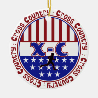 PATRIOTIC CROSS COUNTRY ORNAMENT XC