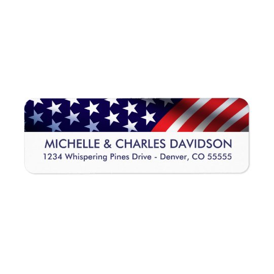 Patriotic Customised Return Address Labels