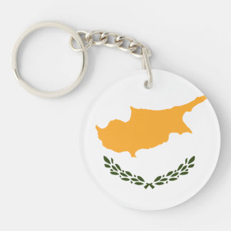 Patriotic Cyprus Flag Key Ring