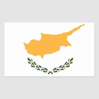 Patriotic Cyprus Flag Rectangular Sticker