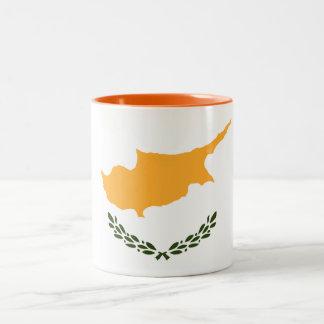 Patriotic Cyprus Flag Two-Tone Coffee Mug