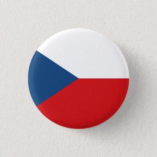 Patriotic Czech Republic Flag 3 Cm Round Badge