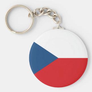 Patriotic Czech Republic Flag Key Ring