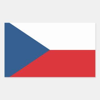 Patriotic Czech Republic Flag Rectangular Sticker