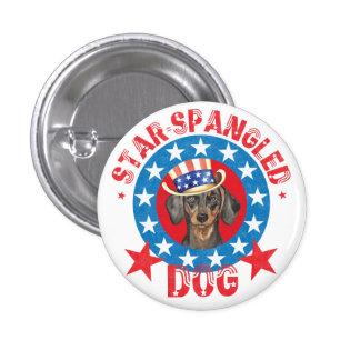 Patriotic Dachshund 3 Cm Round Badge
