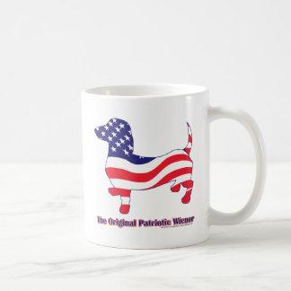 Patriotic Dachshund - Doxie Basic White Mug