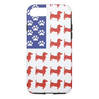 Patriotic Dachshund Doxie iPhone 8/7 Case