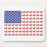 Patriotic Dachshund Doxie Mousepads